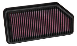 El filtro de aire 33-3009 de K&N para los Modelos de 1.2 litros del Kia Rio 2014-2017