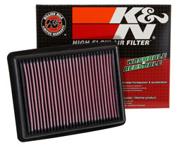 Las instrucciones de instalación impresas están incluidas en la caja con el filtro de reemplazo de K&N.