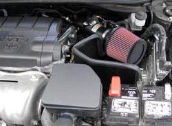 Sistema de Admisión de Aire 69-8611TTK de K&N instalado en un Toyota Camry 2.5L 2010