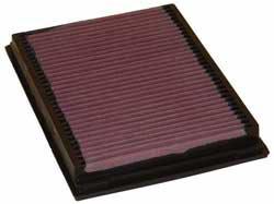 El filtro de aire de reemplazo 33-2231 de K&N para el BMW Serie 3 1996-2007, BMW X3 2004-2006 y BMW M3 2000-2007.