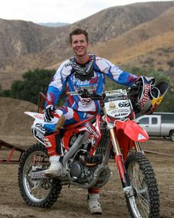 Lance Coury en 2011 cuando K&N Filtros lo patrocinó por primera vez