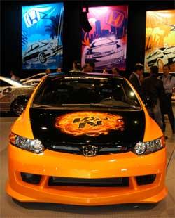 El Honda Civic SI 2006 de K&N En Exhibición en Las Vegas, Nevada