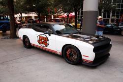 El Dodge Challenger Hellcat de 2016 en el espectáculo SEMA (Asociación de Mercado de Equipamiento Especial) 2016