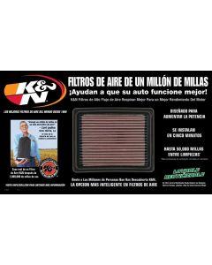 87-5024 K&N POP; Pantalla de Filtro de Aire; español