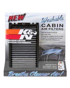 87-5036 K&N Exhibidor; filtro de aire de cabina