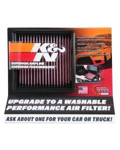 87-5038 K&N Exhibidor; filtro de aire pequeño