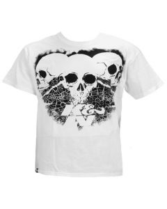 88-6014-M K&N Camiseta; 3 Skulls Black on White