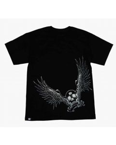 88-6103-S K&N Camiseta; Winged Racing Skull, Negra