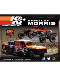 89-11647 K&N Hero Card; Bradley Morris, 8-1/2 x 11