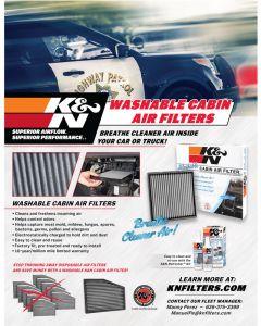 89-11673 K&N POP; hoja de venta: Filtro de aire de cabina Police