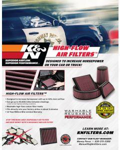 89-11675 K&N POP; hoja de venta: Filtro de aire Police