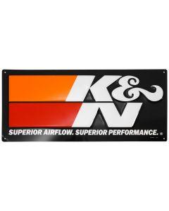 89-11837-2 K&N Letrero metálico con relieve de K&N