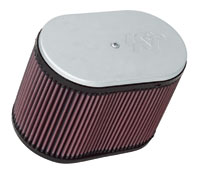 K&N Dual Oval Air Filter for Kinsler- Siamese Stacks